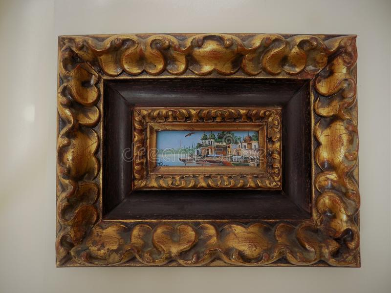 Piccola pittura di Benares immagini stock