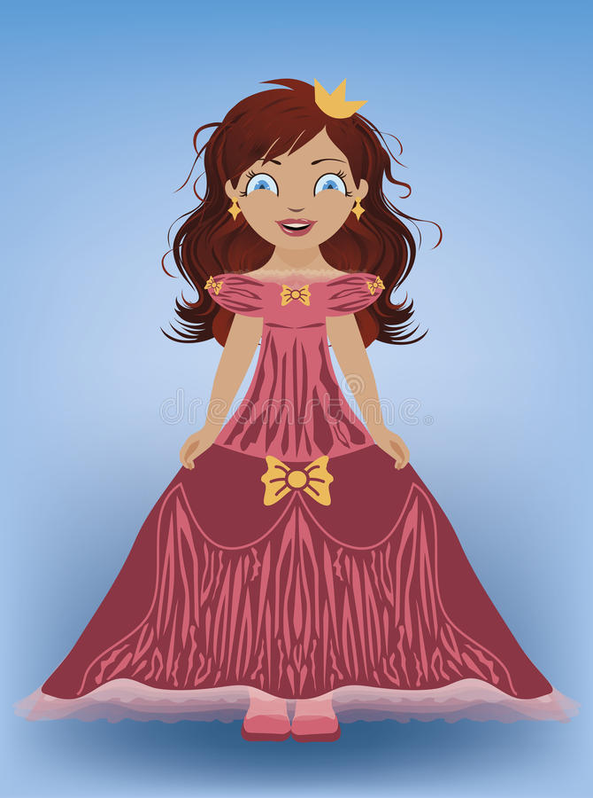 Piccola principessa dolce royalty illustrazione gratis