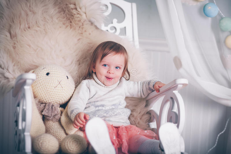 Piccola principessa felice fotografie stock