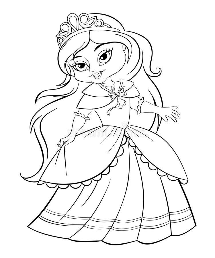 Piccola principessa sveglia illustrazione di stock