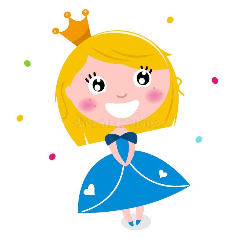 Piccola principessa sveglia del fumetto royalty illustrazione gratis