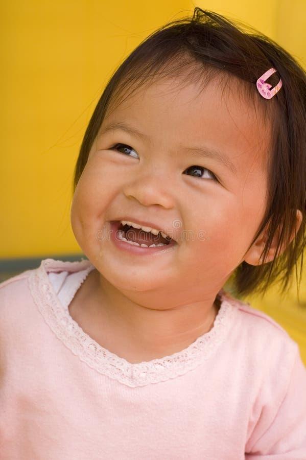 Piccola ragazza asiatica (alti vicini) immagini stock libere da diritti