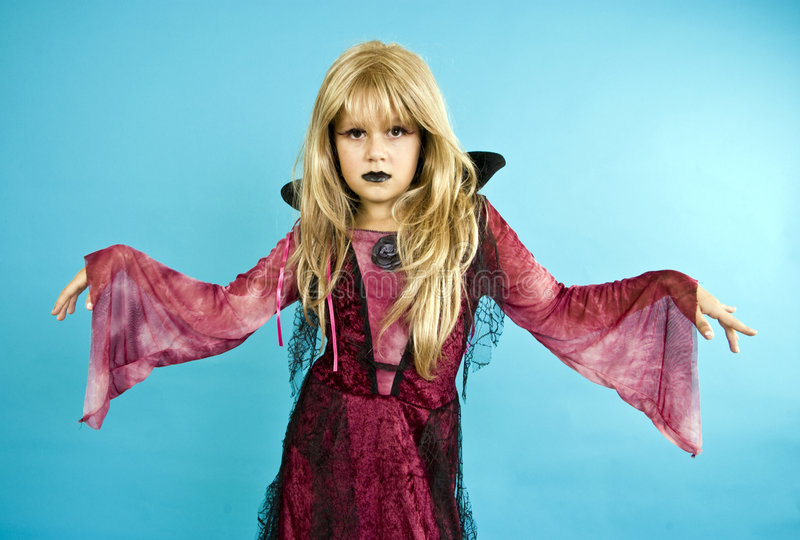 Piccola ragazza del vampiro fotografie stock