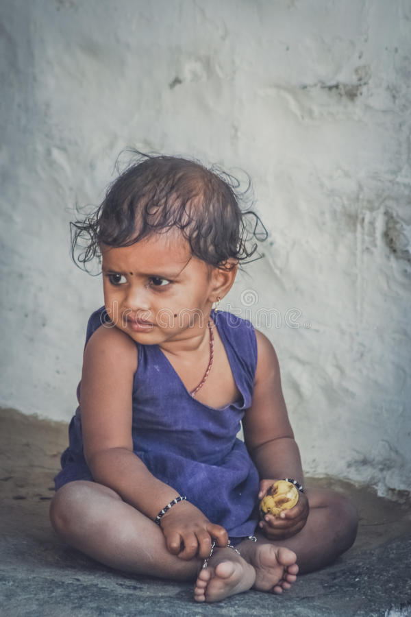 Piccola ragazza indiana immagini stock