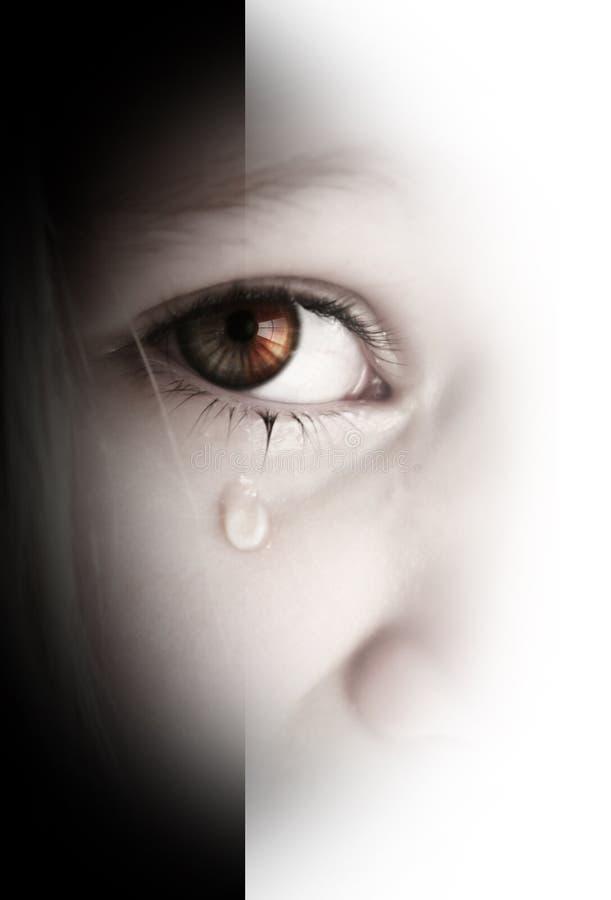 Piccola ragazza triste fotografia stock