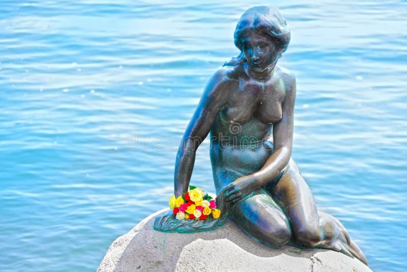 Piccola sirena Copenhaghen Danimarca fotografia stock