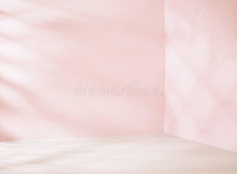 Piccola stanza vuota nel tono rosa immagine stock libera da diritti