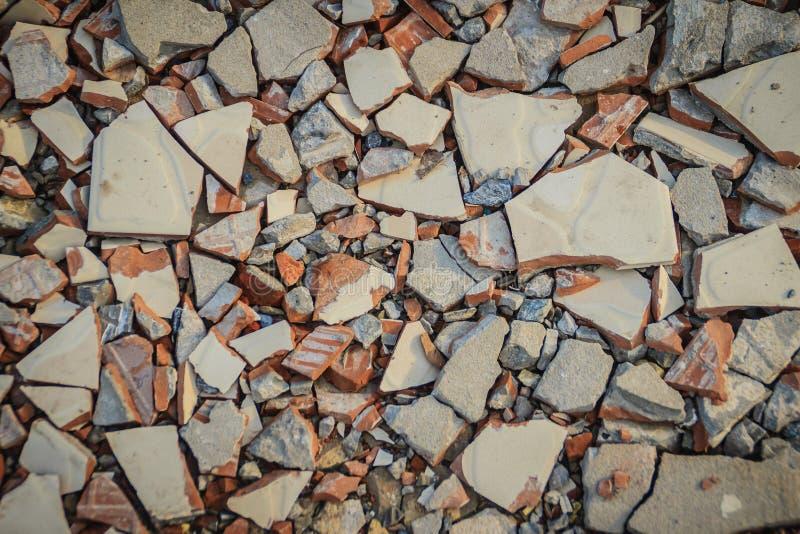 Piccola struttura di pietra del fondo della ghiaia Struttura della ghiaia per fondo Pietre schiacciate sulla ferrovia per struttu fotografia stock