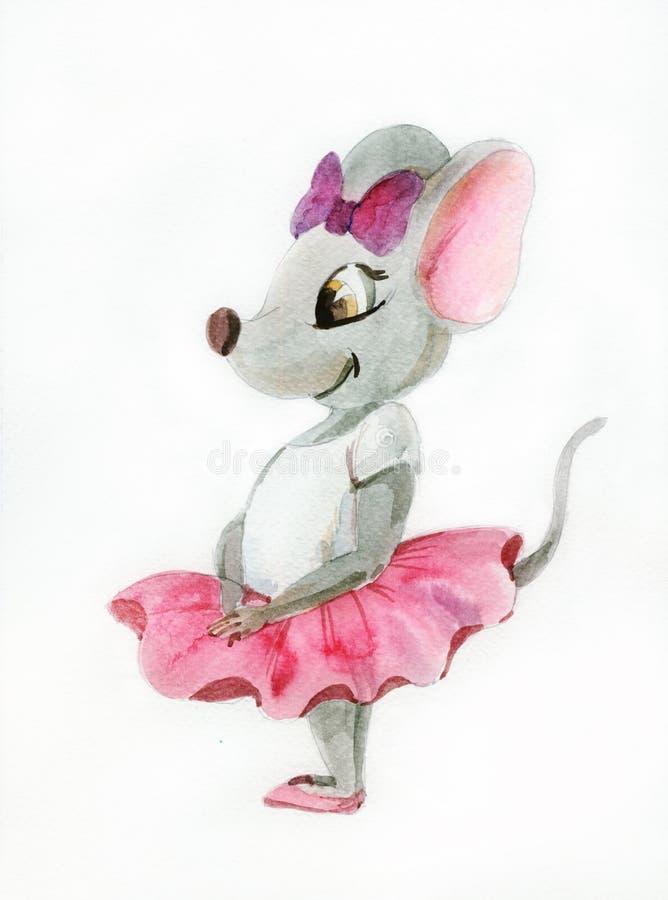 Piccola topo-ballerina royalty illustrazione gratis