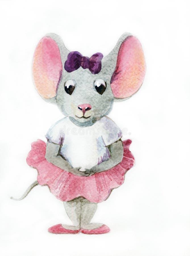 Piccola topo-ballerina illustrazione di stock