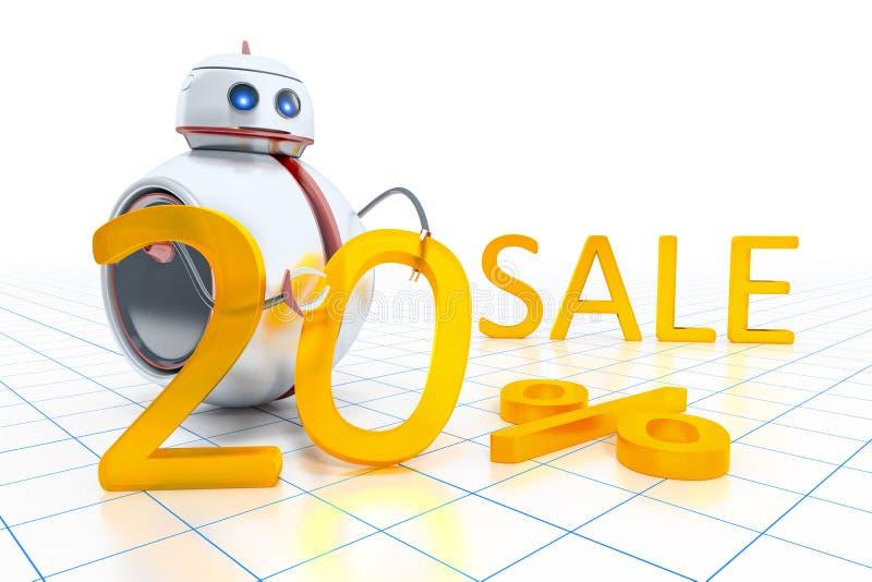 Piccola vendita dolce del robot royalty illustrazione gratis