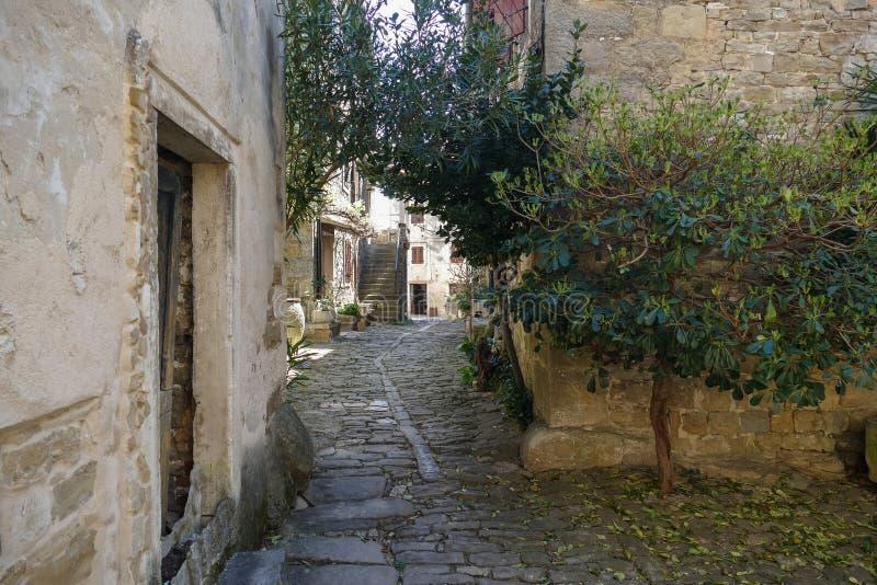 Piccola via di Istrian fotografia stock libera da diritti