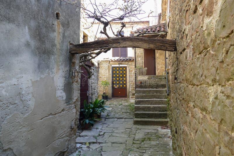 Piccola via di Istrian fotografia stock