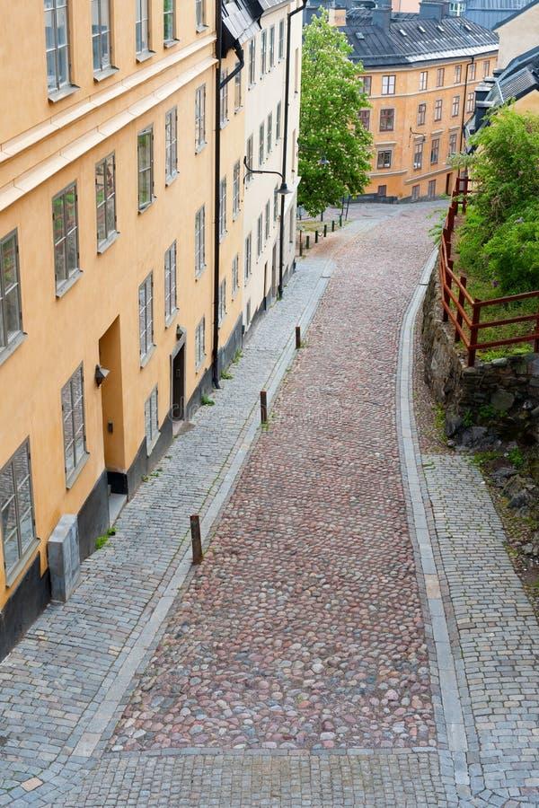 Piccola via di Stoccolma fotografia stock libera da diritti