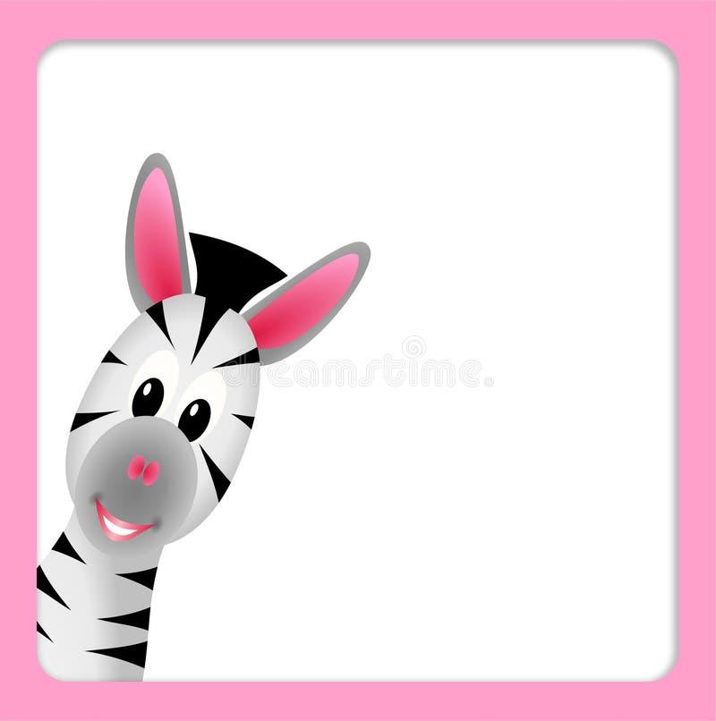 Piccola zebra sveglia su priorità bassa bianca royalty illustrazione gratis