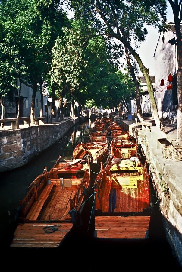 Piccole barche, Cina fotografia stock