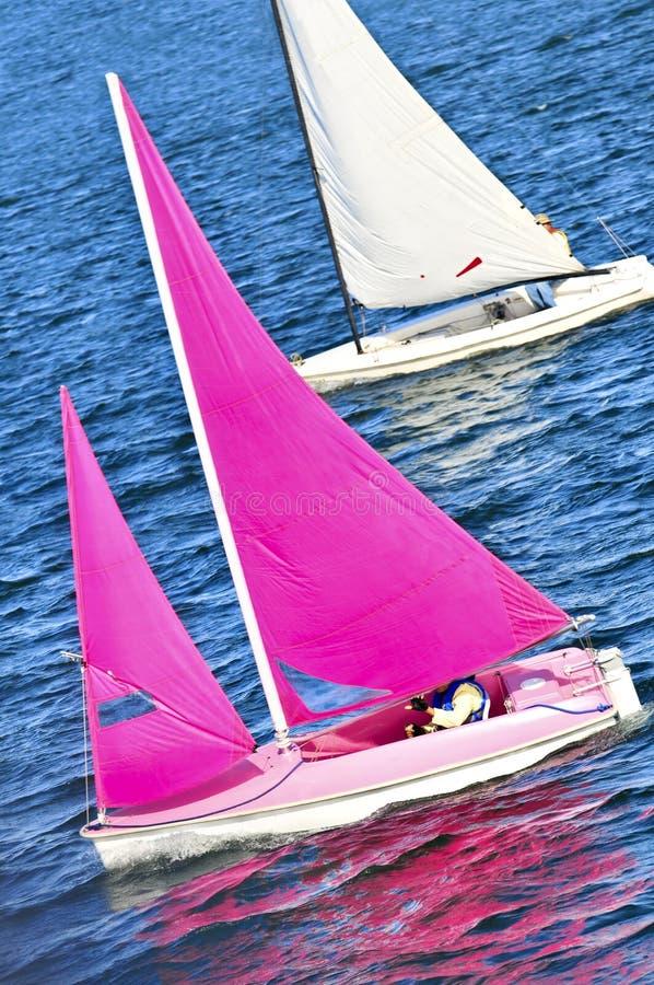 Piccole barche a vela immagine stock
