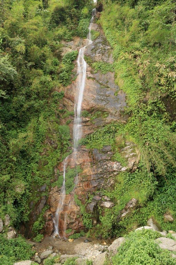 Piccole cascate del Sikkim, India fotografie stock