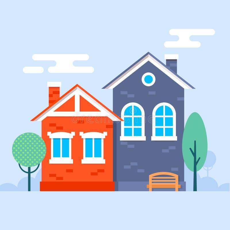 Piccole case dolci illustrazione vettoriale illustrazione for Piccole case in stile ranch