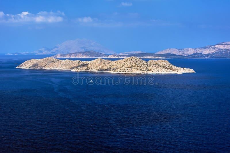 Piccole isole sull'isola di Rodi fotografia stock