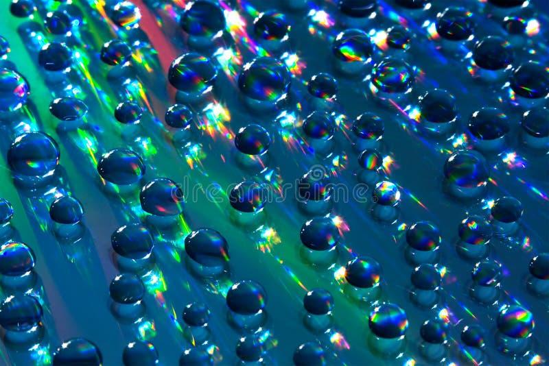 Piccole sfere dell'acqua fotografie stock