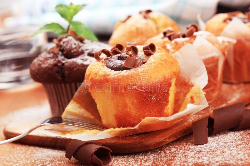 Piccole torte di caffè fotografia stock
