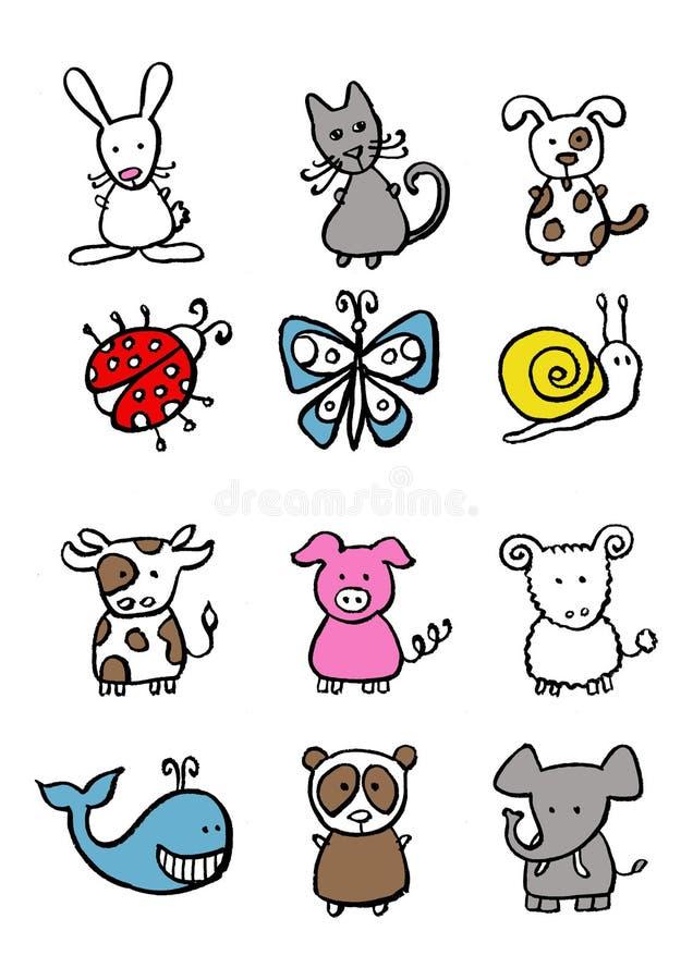 Piccoli animali illustrazione vettoriale