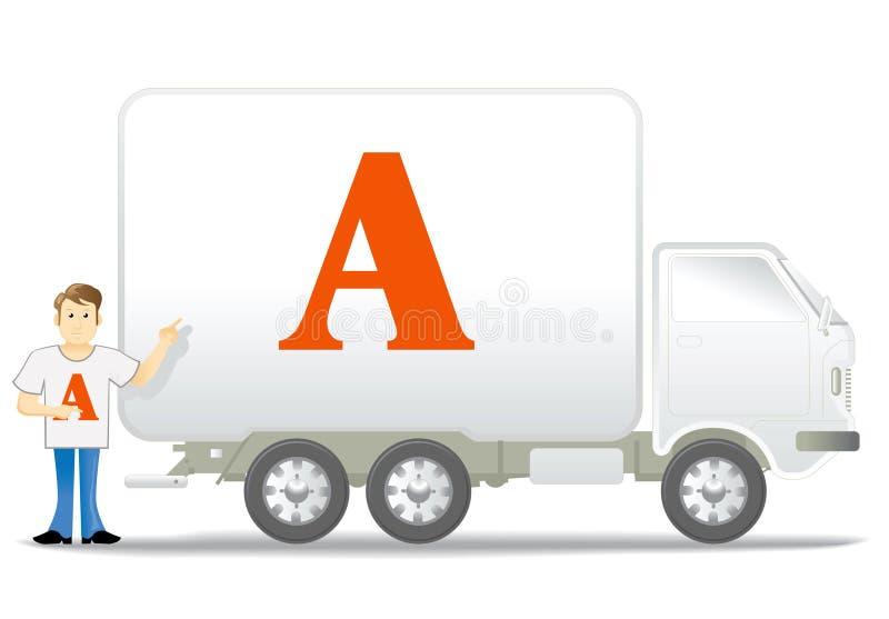 Piccoli camion ed uomo fotografia stock libera da diritti
