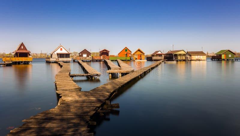 piccoli cottage di pesca immagine stock immagine di case