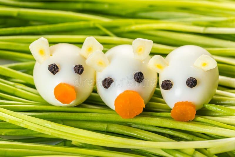 Piccoli maiali delle uova di quaglia fotografia stock