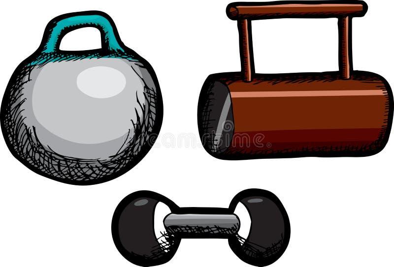 Piccoli pesi illustrazione di stock