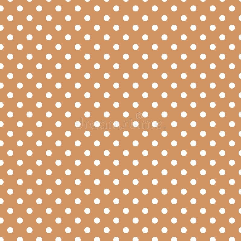 Piccoli pois bianchi su Brown pastello illustrazione vettoriale