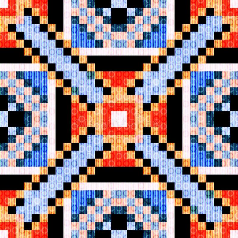 Piccoli poligoni dei pixel e fondo geometrico astratto del cerchio royalty illustrazione gratis