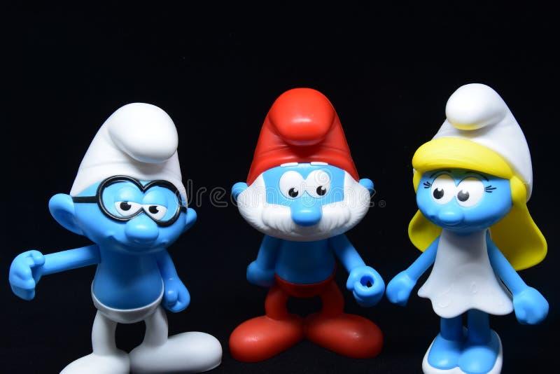 Piccoli Puffi blu fotografie stock libere da diritti