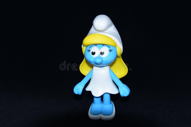 Piccoli Puffi blu immagini stock