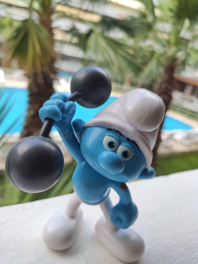 Piccoli Puffi blu fotografia stock libera da diritti