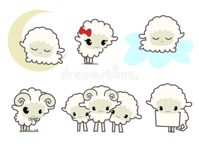 Piccoli sheeps illustrazione di stock