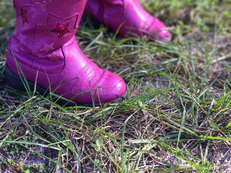 Piccoli stivali rosa immagine stock libera da diritti