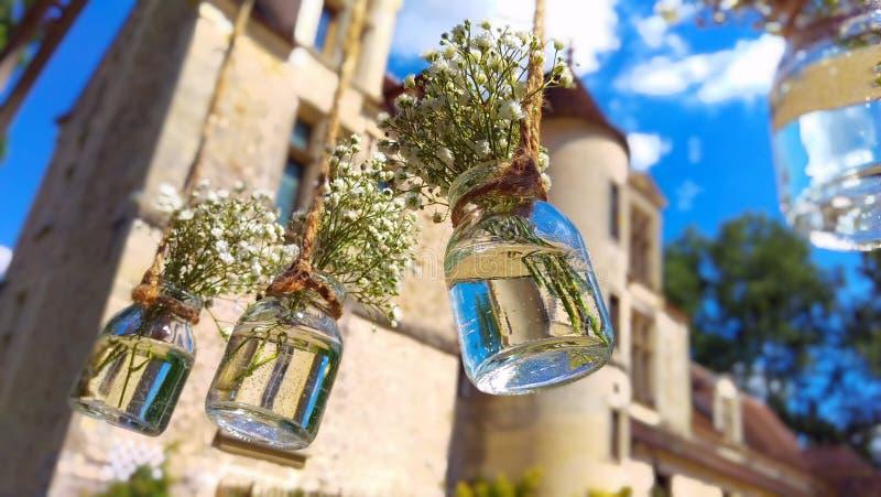Piccoli vasi con i fiori immagini stock libere da diritti