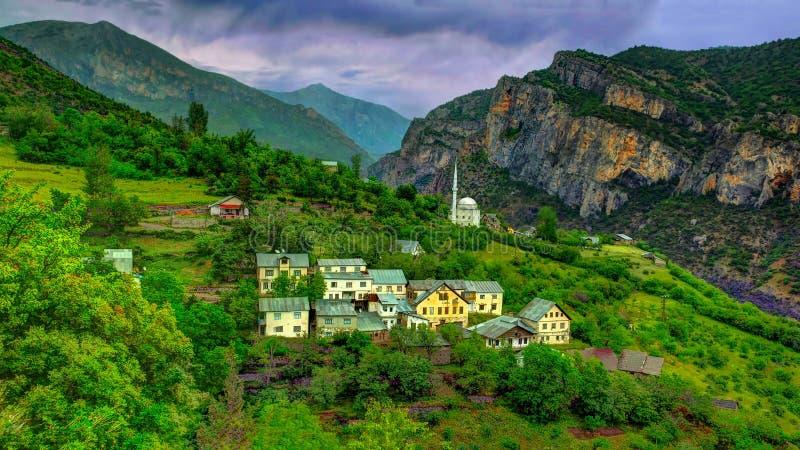Piccoli villaggi della regione di Mar Nero di Anatolia, Turchia immagine stock