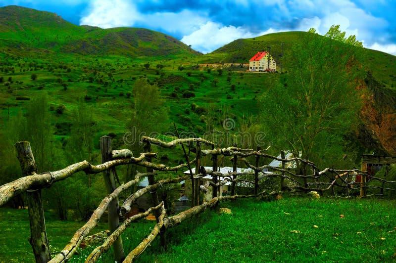 Piccoli villaggi della regione di Mar Nero di Anatolia, Turchia fotografia stock libera da diritti
