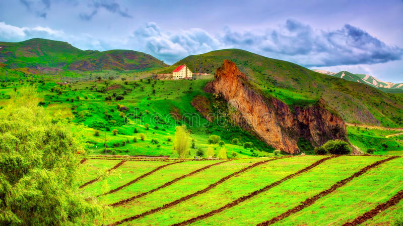 Piccoli villaggi della regione di Mar Nero di Anatolia, Turchia fotografie stock libere da diritti