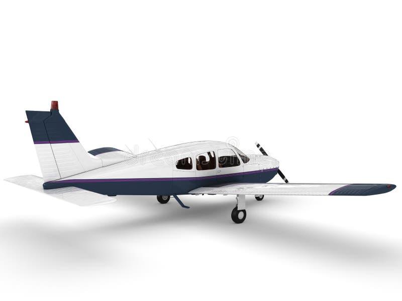 Piccolo aeroplano moderno del passanger illustrazione di stock