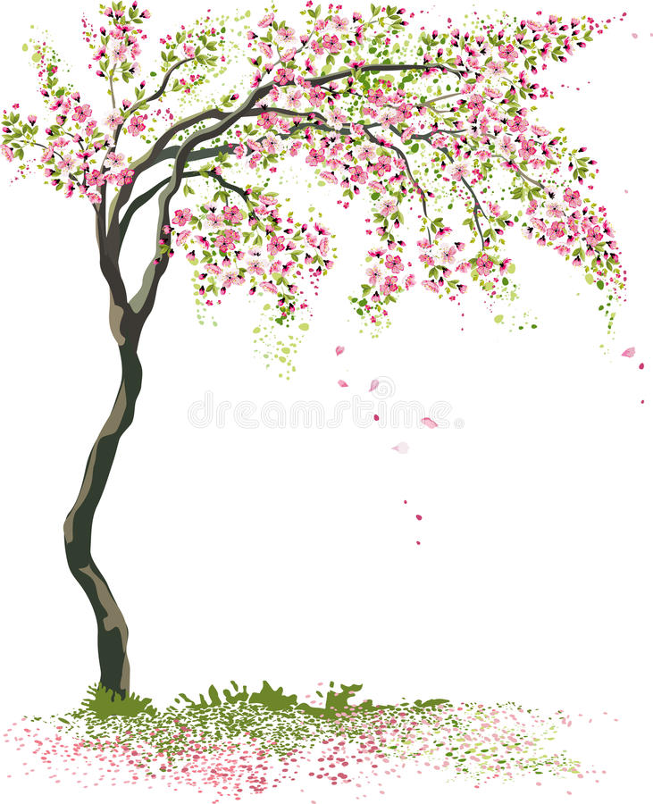 Piccolo albero di fioritura illustrazione vettoriale