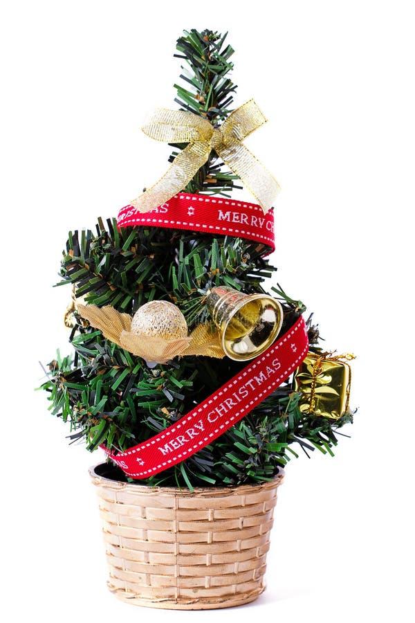 Piccolo albero di Natale decorativo immagine stock