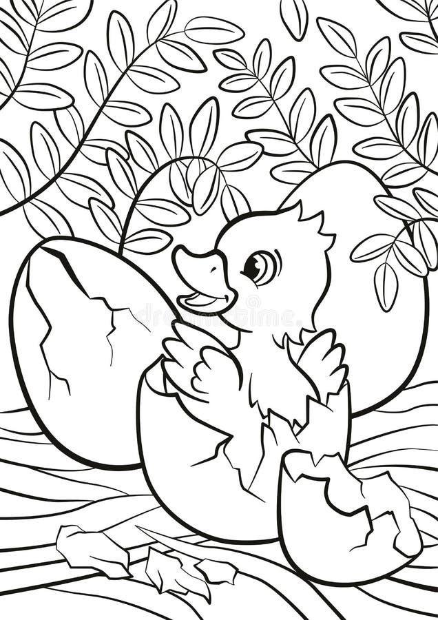 Piccolo anatroccolo sveglio covato dall'uovo royalty illustrazione gratis