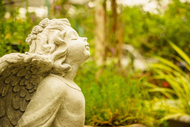Piccolo angelo felice immagine stock