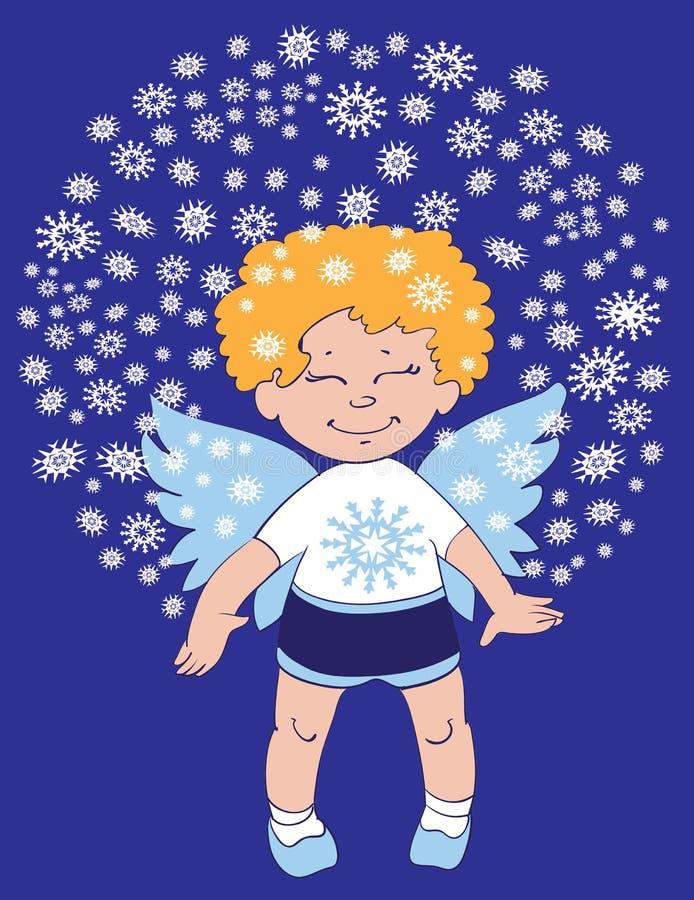 Piccolo angelo sveglio illustrazione vettoriale