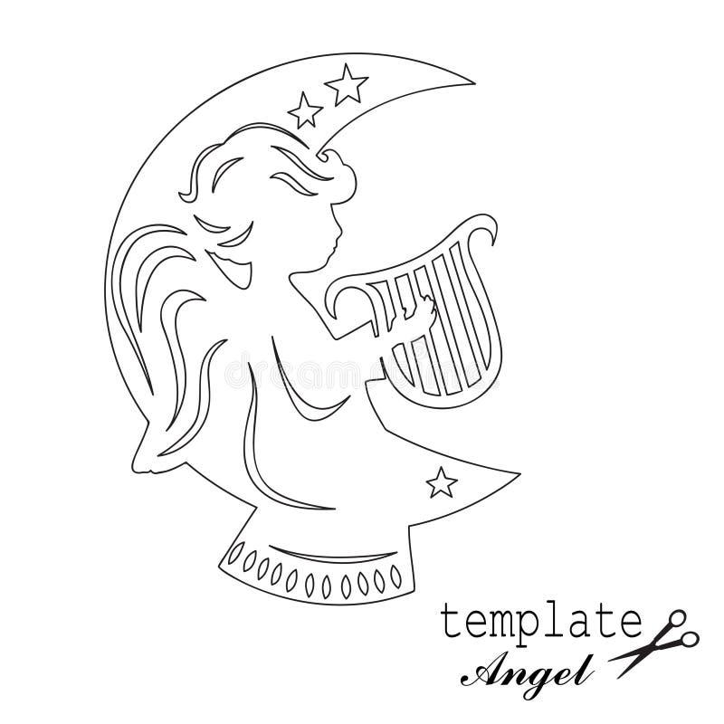 Piccolo angelo sveglio royalty illustrazione gratis