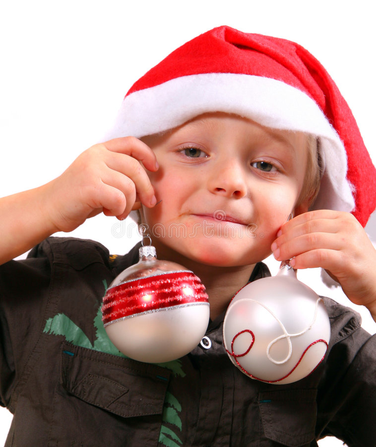 Piccolo assistente di Santa fotografie stock libere da diritti